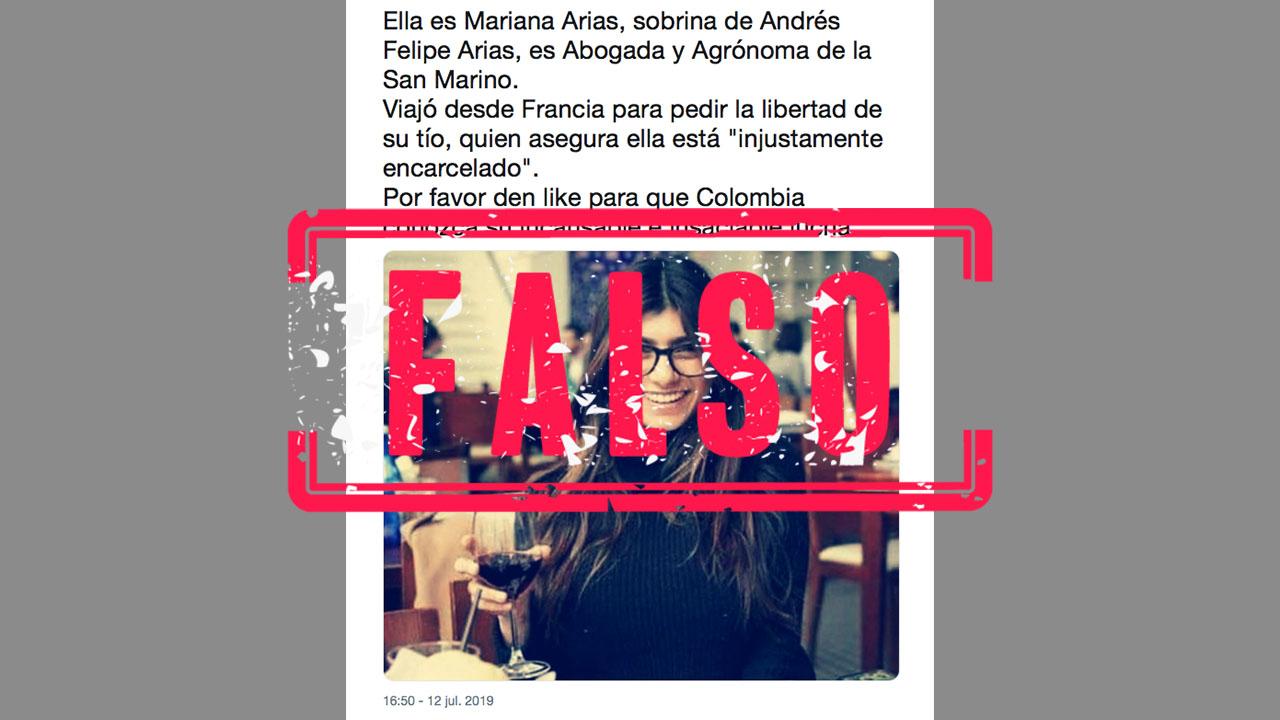 No No Es Sobrina De Andres Felipe Arias Es Mia Khalifa