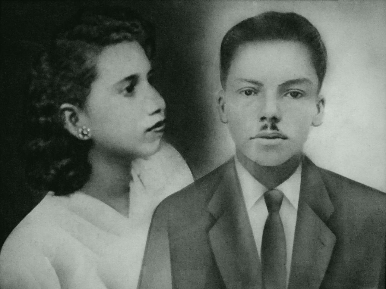 Pedro Fernández González y Ana Yepes en los años 60.