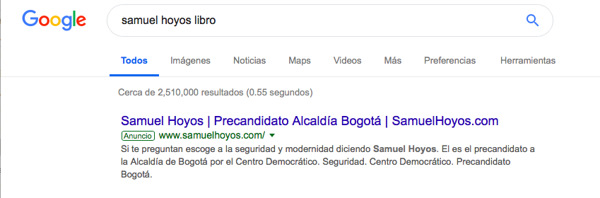 Captura de pantalla google