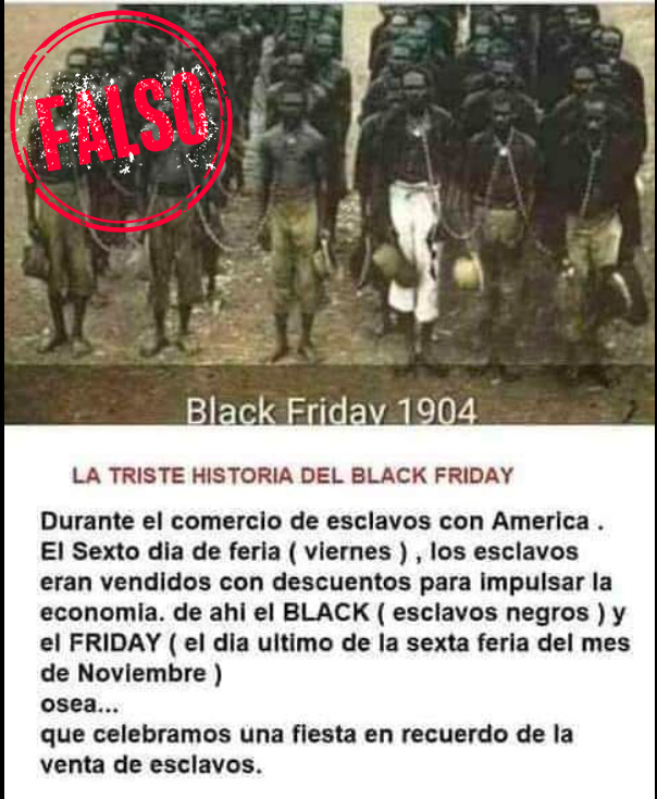 Falsa historia del Black Friday